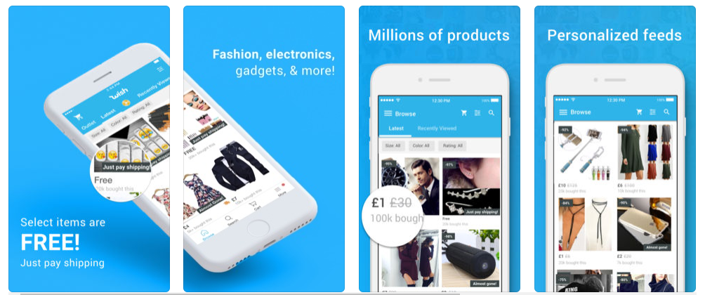 Wish Online Shopping Mobile App
